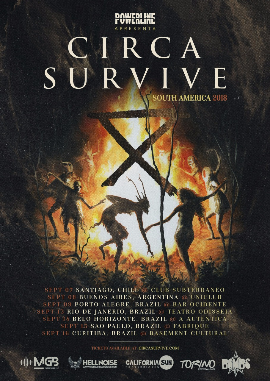 Circa Survive turnê 2018 (setembro)-Powerline cartaz