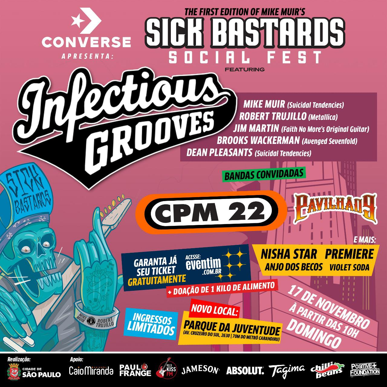 Resenha: Sick Bastards Social Fest com Infectious Grooves, CPM 22 e mais bandas