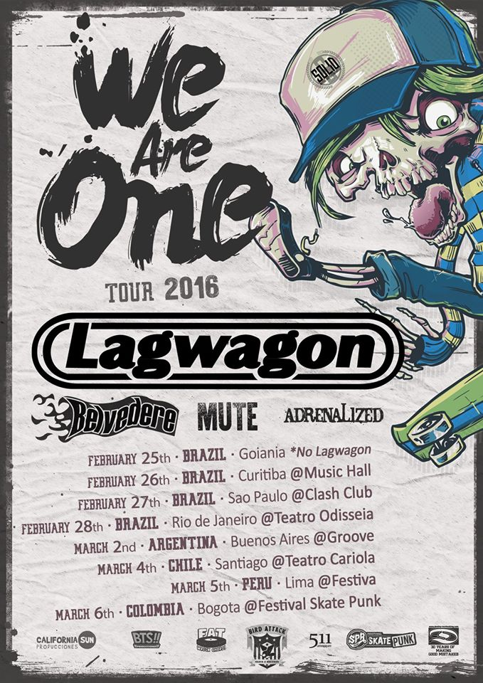 Festival We Are One (Lagwagon e mais) disponibilizará pontos de venda a partir de quarta